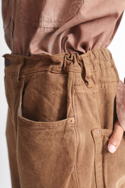 Dr. Collectors Dogtown Denim in Cloud Caramel pocket detail view