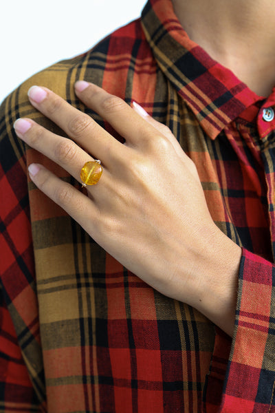 Mary MacGill Stone Ring in Amber