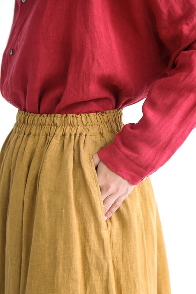 Linen Skirt in Camel