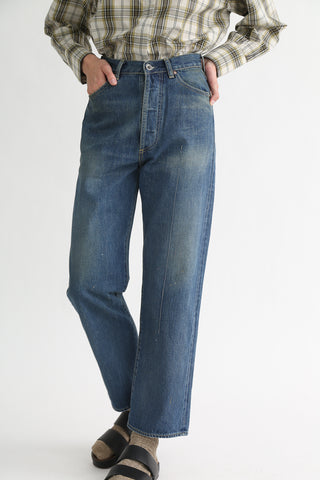 Chimala Selvedge Denim Monroe Cut in Medium Wash front view