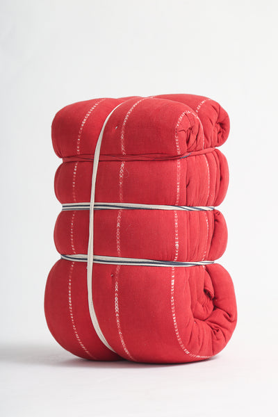 Tensira Kapock Mattress / Bedroll in Rouge - Red Tie & Dye