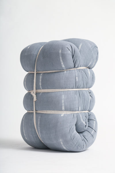 Tensira Mattress/Bedroll in Kapok in Grey Tie & Dye