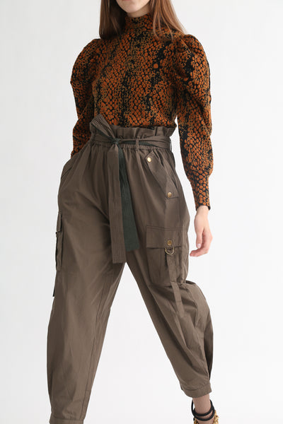 Ulla Johnson Willett Pant in Fatigue on model view front