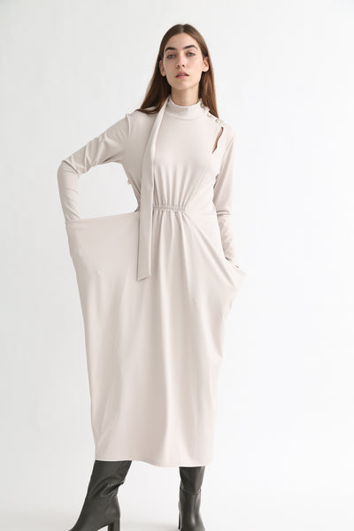 Rito Dress - Stretch Jersey in Ivy on model view front
