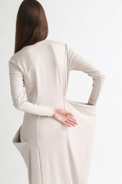 Rito Dress - Stretch Jersey in Ivy on model view back
