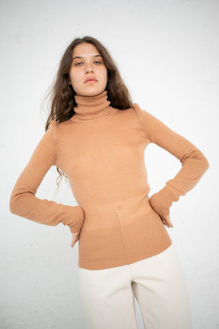 A Detacher Carly Turtleneck in Nude | Oroboro Store | New York, NY