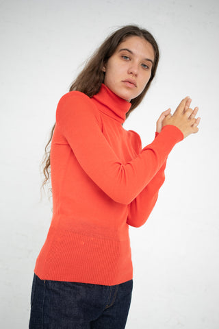 A Detacher Carly Turtleneck in Tomato | Oroboro Store | New York, NY