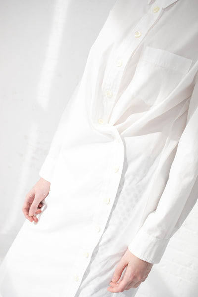 AVN Long Shirt in 01 White | Oroboro Store | New York, NY
