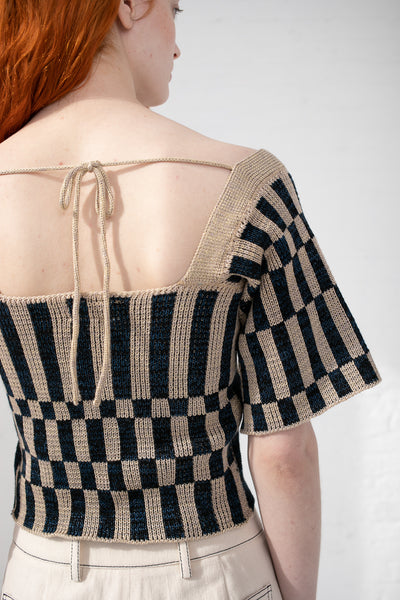 Intensity Optic Corset with Sleeves in Sand & Black | Oroboro Store | New York, NY