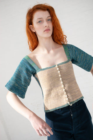 Intensity Edge Corset with 3/4 Sleeves in Sand | Oroboro Store | New York, NY