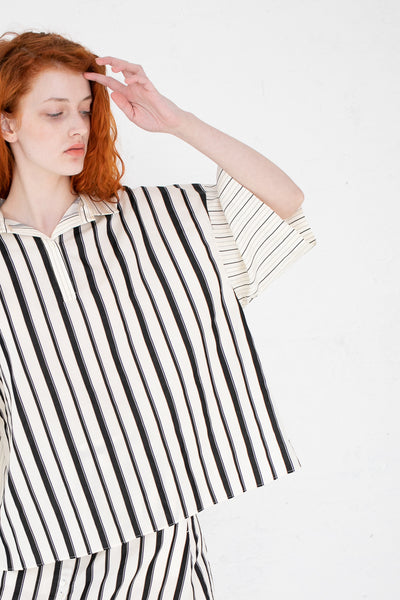 Rito Stripe Short Sleeve Shirt in Ivy | Oroboro Store | New York, NY