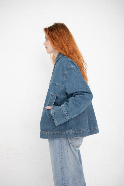 B Sides Stadium Jacket in Marble Blue Wash | Oroboro Store | New York, NY