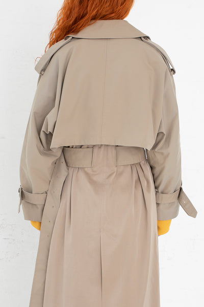 Rito Dolman Trench Coat in Beige | Oroboro Store | New York, NY