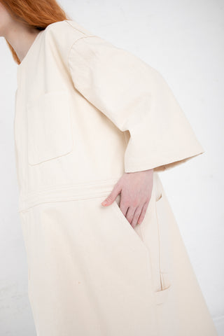 A Detacher Dani Dress in Ecru Canvas | Oroboro Store | New York, NY