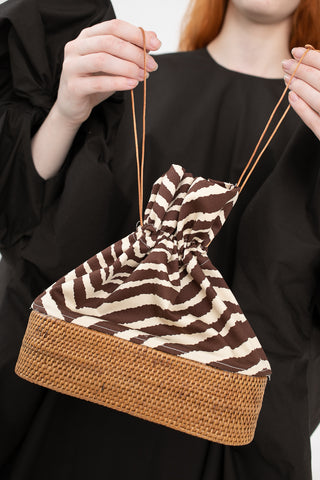 Brother Vellies Nusa Bucket Bag in Zebra Cotton | Oroboro Store | New York, NY