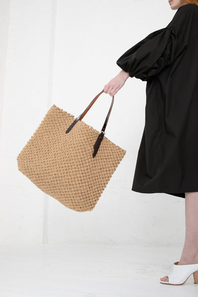 A Detacher Zelda Bag in Natural Jute | Oroboro Store | New York, NY