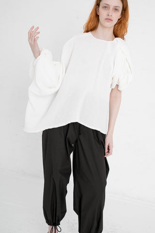 A Detacher Taro Top in White | Oroboro Store | New York, NY