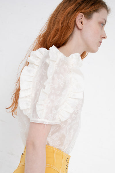 Ulla Johnson Aria Blouse in Blanc | Oroboro Store | New York, NY