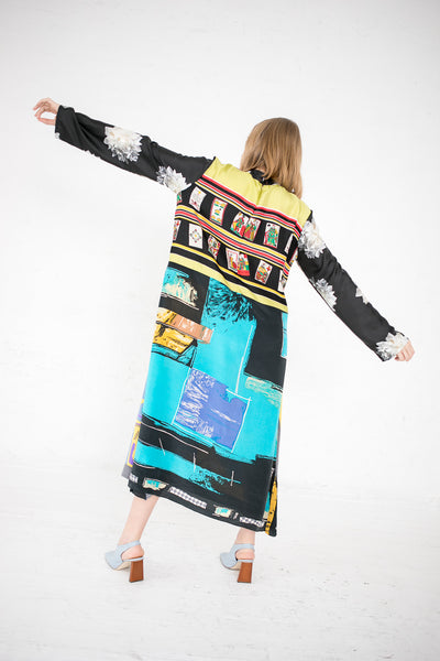 Bettina Bakdal Vintage Scarves Dress The Yellow Bird Dress | Oroboro Store | New York, NY