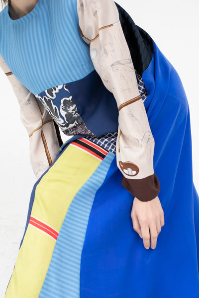 Bettina Bakdal Vintage Scarves Dress The Blue Patchwork Dress | Oroboro Store | New York, NY