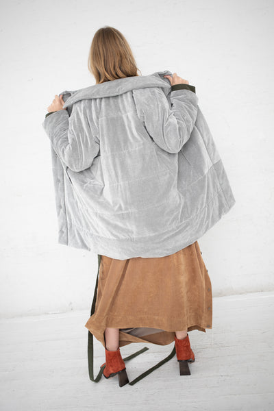 Bernhard Willhelm Coat in Light Grey | Oroboro Store | New York, NY
