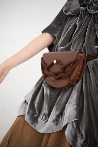 Eatable of Many Orders Monkey Pochette with Rigatoni Skinny Belt in Brown | Oroboro Store | New York, NY