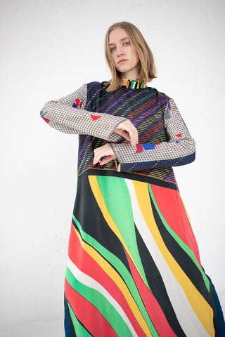 Bettina Bakdal Vintage Scarves Dress The Geometric Dress | Oroboro Store | New York, NY