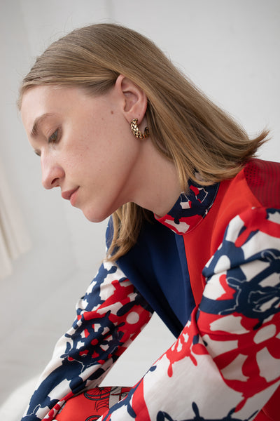 Erin Considine Plait Hoops in Brass | Oroboro Store | New York, NY