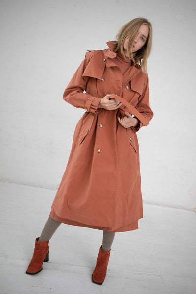 Eatable of Many Orders Theobroma Trenchcoat in Hazel | Oroboro Store | New York, NY