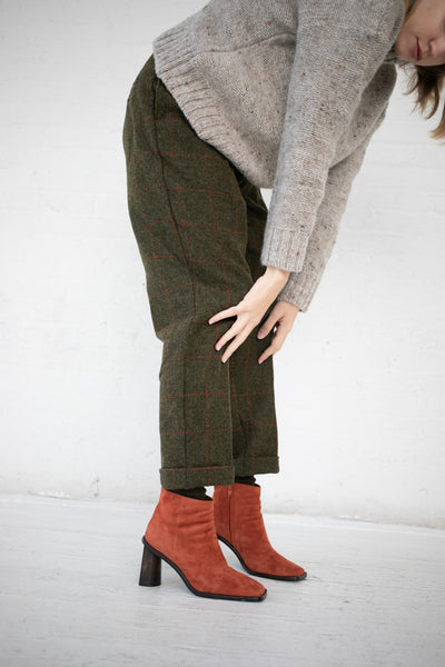 Ichi Antiquites Pant Wool in Khaki | Oroboro Store | New York, NY