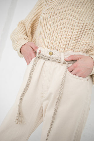 Erin Considine Maya Belt in Raw Flax | Oroboro Store | New York, NY