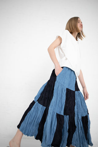 Eatable of Many Orders Sericulture Skirt in Indigo/Bio | Oroboro Store | New York, NY