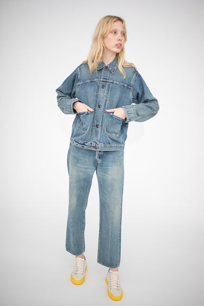 Chimala Denim Jacket in Light Distress | Oroboro Store | New York, NY