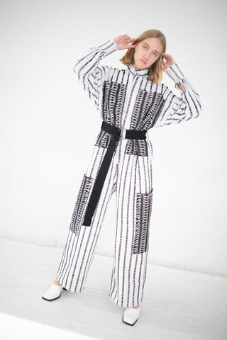 Luna Del Pinal Jumpsuit in Black/White | Oroboro Store | New York, NY
