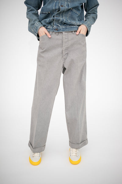 Chimala Denim Cinch-In Trouser in Wide Width Gray | Oroboro Store | New York, NY