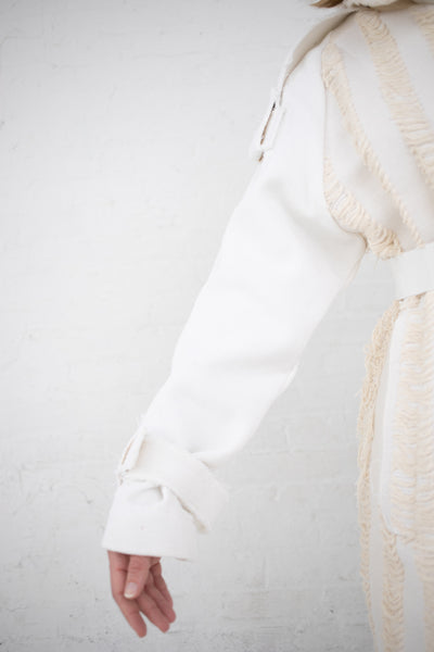 Luna Del Pinal Trench Coat in Natural/White | Oroboro Store | New York, NY
