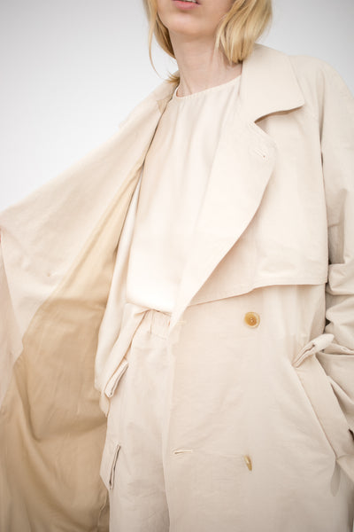 Bernhard Willhelm XTC Jacket / Cotton Japanese Paper in Beige | Oroboro Store | New York, NY