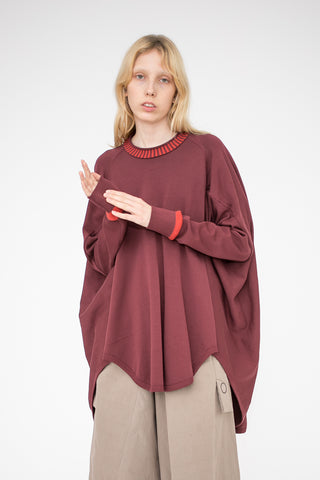 Bernhard Willhelm DEN Sweater in Wine | Oroboro Store | New York, NY