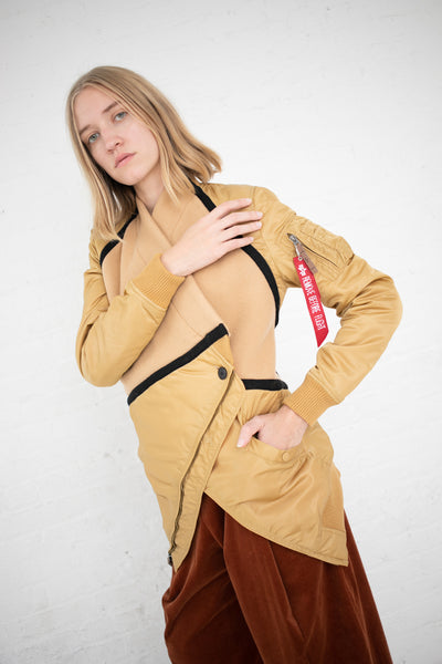 Lutz Huelle Star Bomber Jacket in Gold/Camel | Oroboro Store | New York, NY