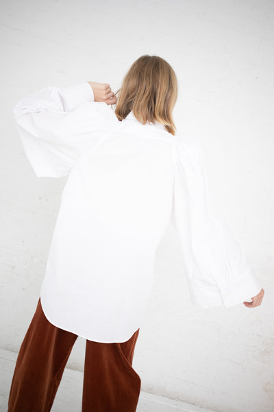 Lutz Huelle Over Sleeve Shirt in White | Oroboro Store | New York, NY