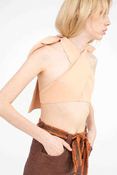 Veronique Leroy Bra Top in Nude | Oroboro Store | New York, NY