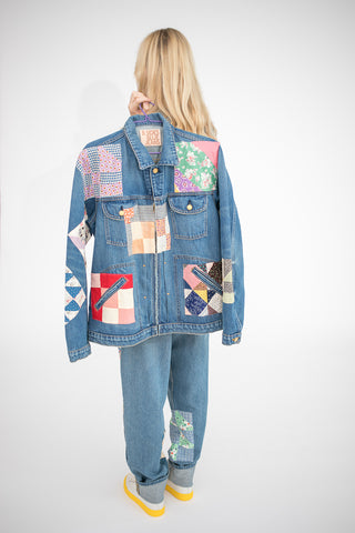 B Sides Lennon Jacket in Antique Quilt Patchwork l | Oroboro Store | New York, NY