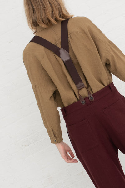 Ichi Antiquites Suspender in Brown | Oroboro Store | New York, NY