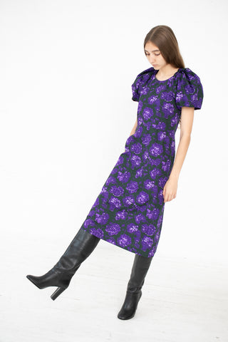 A Detacher Darling Dress in Violet Floral Print | Oroboro Store | New York, NY