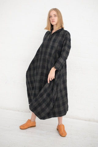 Robe de Nomad in Block Check | Oroboro Store | New York, NY