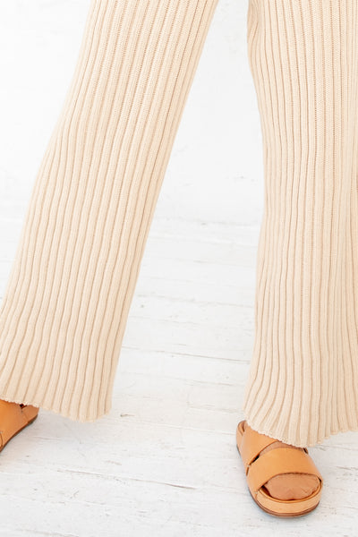 Baserange Maru Pants in Cotton Rib Corda Off White | Oroboro Store | New York, NY