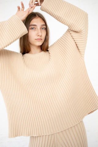 Baserange Kai Sweater in Off White Rib Corda | Oroboro Store | New York, NY