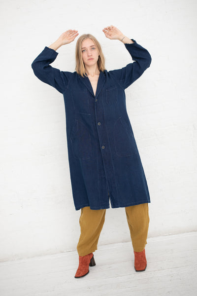 Ichi Antiquites Jacket Linen in Indigo | Oroboro Store | New York, NY