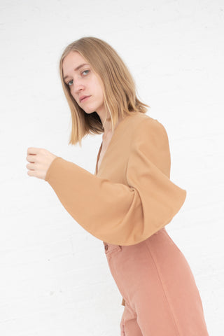 Shaina Mote Concha Top in Camel | Oroboro Store | New York, NY