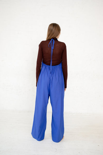 Baserange Otay Honday Jumpsuit in in Raw Silk Aster Blue | Oroboro Store | New York, NY